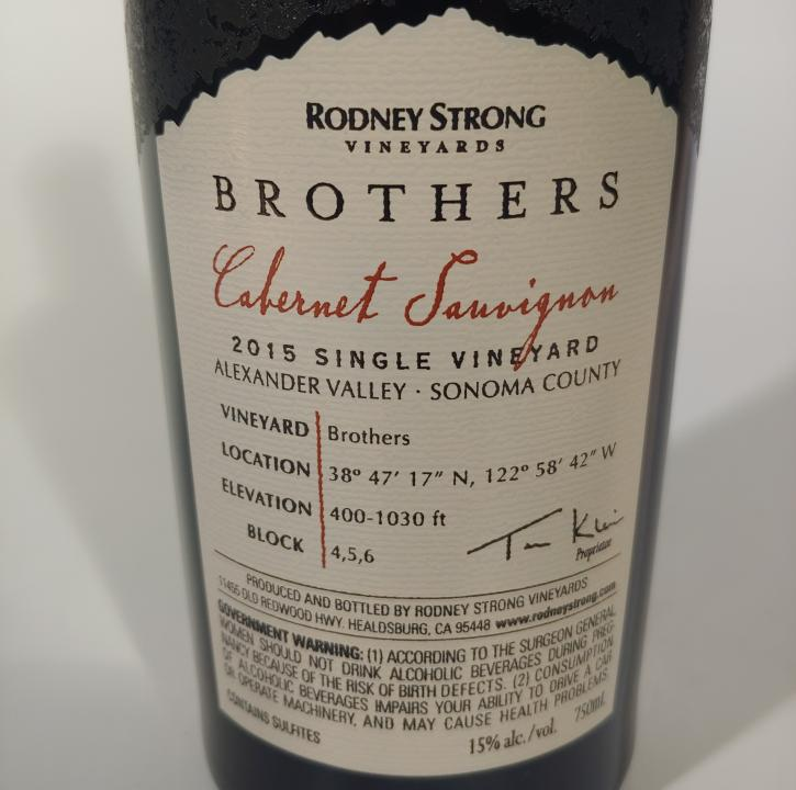 Rodney Strong Brother's Ridge Cabernet Sauvignon Alexander Valley